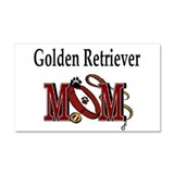 Golden Retriever Mom Car Magnet 20 x 12