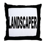 Landscaper Throw Pillow