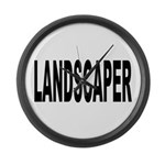 Landscaper Large Wall Clock
