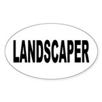 Landscaper Sticker (Oval 10 pk)