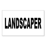 Landscaper Sticker (Rectangle 10 pk)