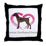 Heart My GSP Throw Pillow