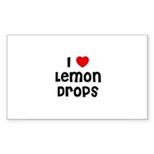 I * Lemon Drops Rectangle Decal