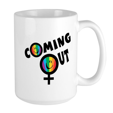 Coming Out Female Large Mug