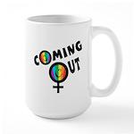Coming Out Female Large Mug