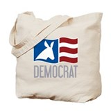 Democrat Donkey Flag Tote Bag