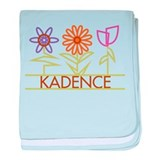 Kadence with cute flowers baby blanket