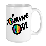 Coming Out Male Large Mug