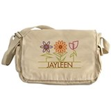 Jayleen with cute flowers Messenger Bag