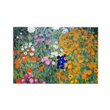 Klimt - Flower Garden Rectangle Magnet