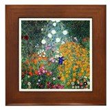 Klimt - Flower Garden Framed Tile