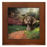 """Why God Made Dogs"" GSP Framed Tile"