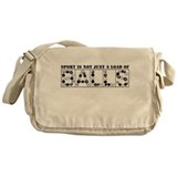 Messenger Bag with sport is not just... slogan
