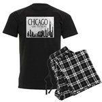 Chicago My Town Men's Dark Pajamas