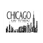 Chicago My Town 38.5 x 24.5 Wall Peel
