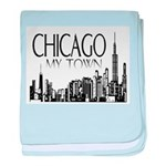 Chicago My Town baby blanket