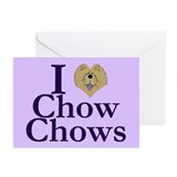 I Heart Chows Greeting Cards (Pk of 10)