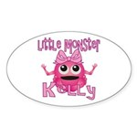 Little Monster Kelly Sticker (Oval)