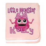 Little Monster Kelly baby blanket