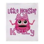 Little Monster Kelly Throw Blanket