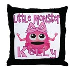 Little Monster Kelly Throw Pillow