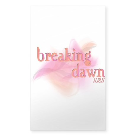 Breaking Dawn Abstract Sticker (Rectangle)