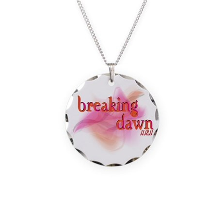 Breaking Dawn Abstract Necklace Circle Charm