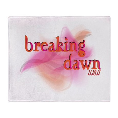Breaking Dawn Abstract Throw Blanket