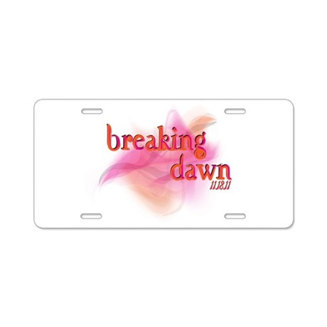 Breaking Dawn Abstract Aluminum License Plate