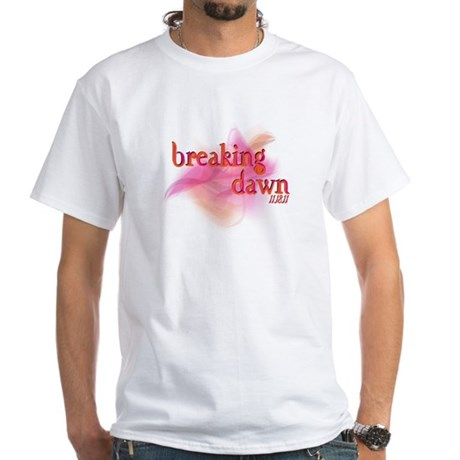 Breaking Dawn Abstract White T-Shirt