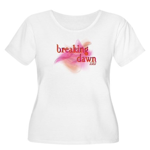 Breaking Dawn Abstract Women's Plus Size Scoop Nec