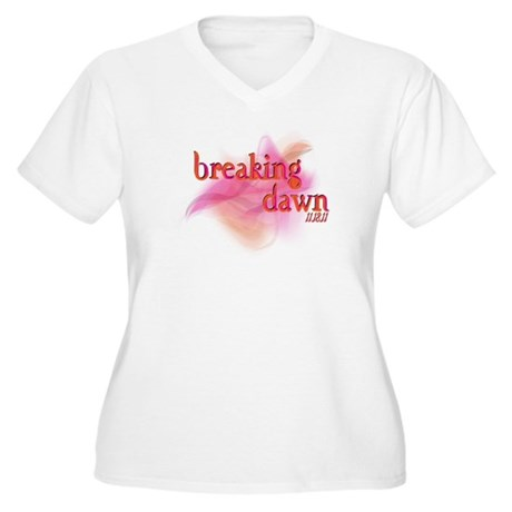 Breaking Dawn Abstract Women's Plus Size V-Neck T-