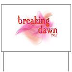 Breaking Dawn Abstract Yard Sign