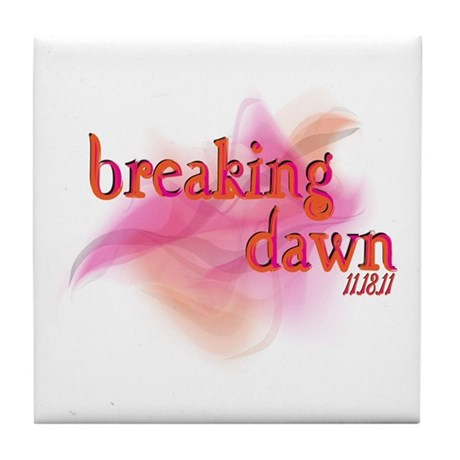 Breaking Dawn Abstract Tile Coaster