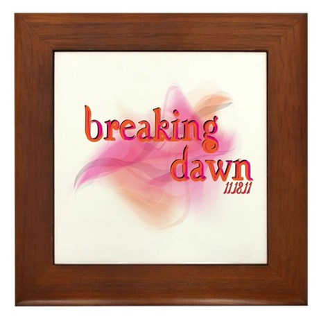 Breaking Dawn Abstract Framed Tile