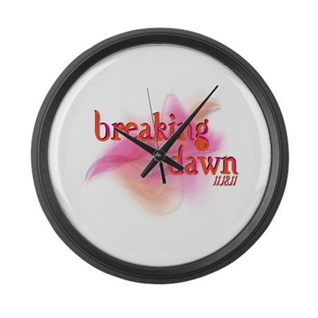 Breaking Dawn Abstract Large Wall Clock
