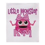 Little Monster Kim Throw Blanket