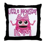 Little Monster Kim Throw Pillow