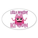 Little Monster Kristin Sticker (Oval)