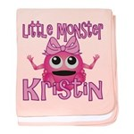 Little Monster Kristin baby blanket