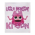 Little Monster Kristin Throw Blanket