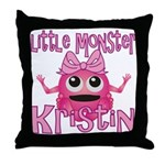 Little Monster Kristin Throw Pillow