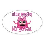 Little Monster Krystal Sticker (Oval)
