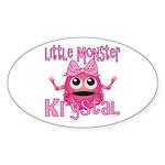 Little Monster Krystal Sticker (Oval)