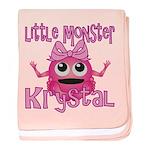 Little Monster Krystal baby blanket