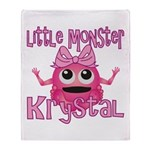Little Monster Krystal Throw Blanket