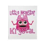 Little Monster Krystal Throw Blanket