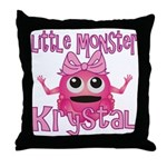 Little Monster Krystal Throw Pillow