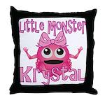 Little Monster Krystal Throw Pillow