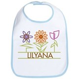 Lilyana with cute flowers Bib